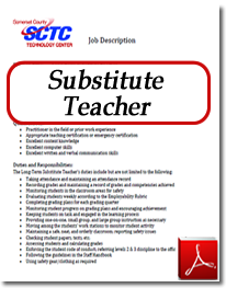 Substitute Teacher Position
